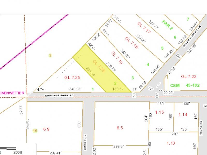 940 Gardner Park Rd,Mosinee,Marathon County,Wisconsin,United States 54455,Vacant Lot,Gardner Park Rd,1424